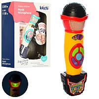 Детский Микрофон музыка, звук, свет, K999-118B-3399