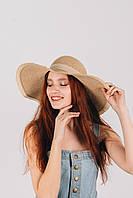 Шляпа широкополая Ангелика песочная