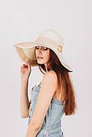 Шляпа широкополая Байс молочно-бежевая