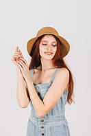 Шляпа широкополая Макарио капучиновая