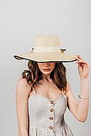 Шляпа широкополая Чико песочная