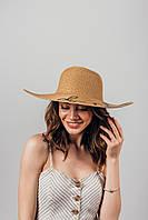 Шляпа широкополая Элена капучиновая