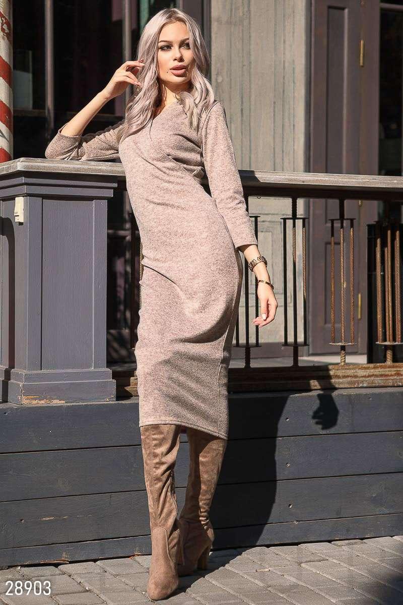 02d93c70c371d5b Удлиненное трикотажное платье - Интернет-магазин одежды ТОПШОП в Мариуполе