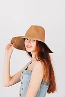 Шляпа широкополая Доминика шоколадная