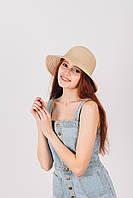 Шляпа широкополая Макарио песочная