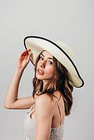 Шляпа широкополая Чико молочная