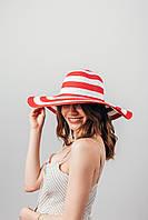 Шляпа широкополая Фарлей красная