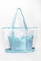 Шоппинг сумка Клэр голубая