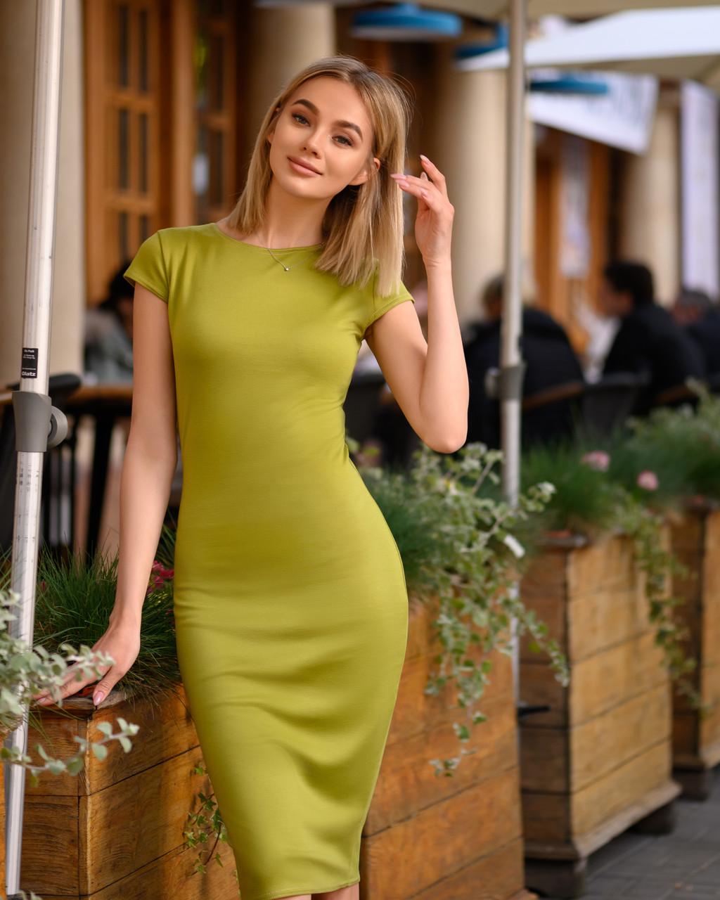 Платье (48-52) футляр Midi