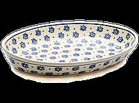 Большое овальное керамическое блюдо сервировочное 37 х 23 Floret