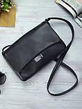 Женская черная сумка клатч код 9-55, фото 3