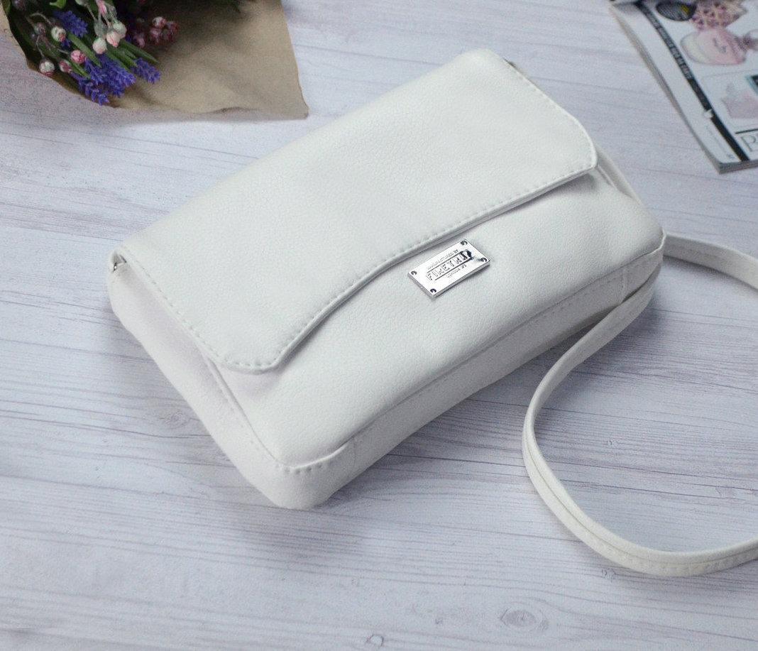 Женская кремовая сумка клатч код 9-55