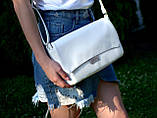 Жіноча кремова сумка клатч код 9-55, фото 4