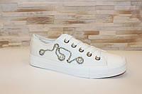 Кеды белые на шнуровке Т276, фото 1