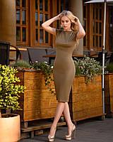 Платье (48-52) футляр Midi хаки, фото 1