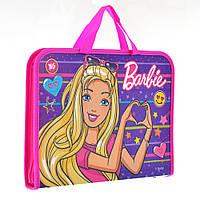 """Папка-портфель на блискавці з тканинними ручками """"Barbie"""""""
