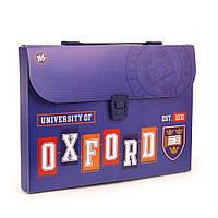 """Портфель пластиковий """"Oxford""""(blue)"""
