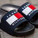 Мужские сланцы Tommy Hilfiger (black/blue), сланцы Томи Хилфигер, тапочки Томи хилфигер, фото 4