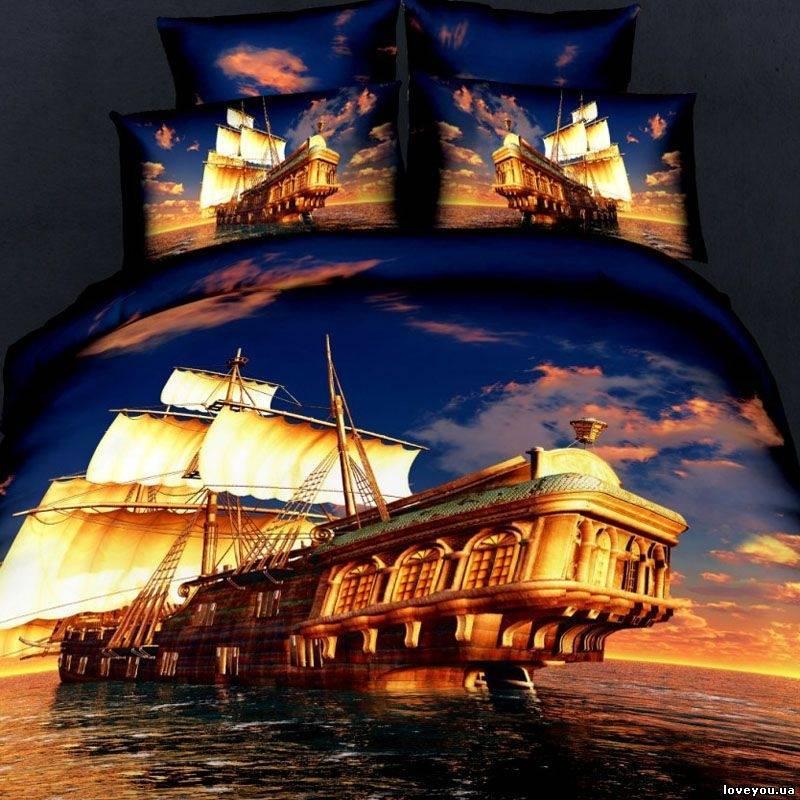 Комплект постельного белья Love You Бригантина двуспальный - евро