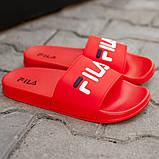 Мужские сланцы Fila (full red), тапочки Fila, шлепанцы Fila, сланцы Фила, тапочки Фила , фото 2