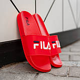 Мужские сланцы Fila (full red), тапочки Fila, шлепанцы Fila, сланцы Фила, тапочки Фила , фото 4