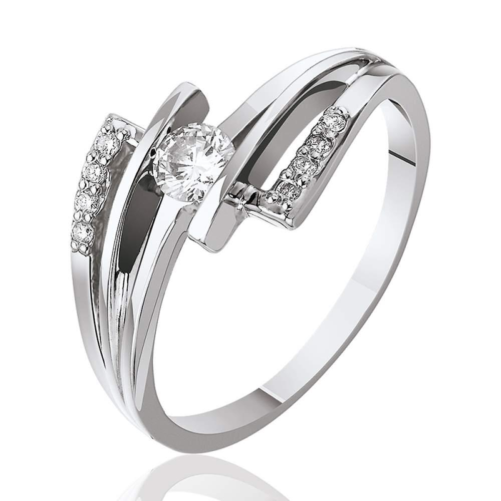 Кольцо КД7513/1 с камнем Бриллиант Eurogold