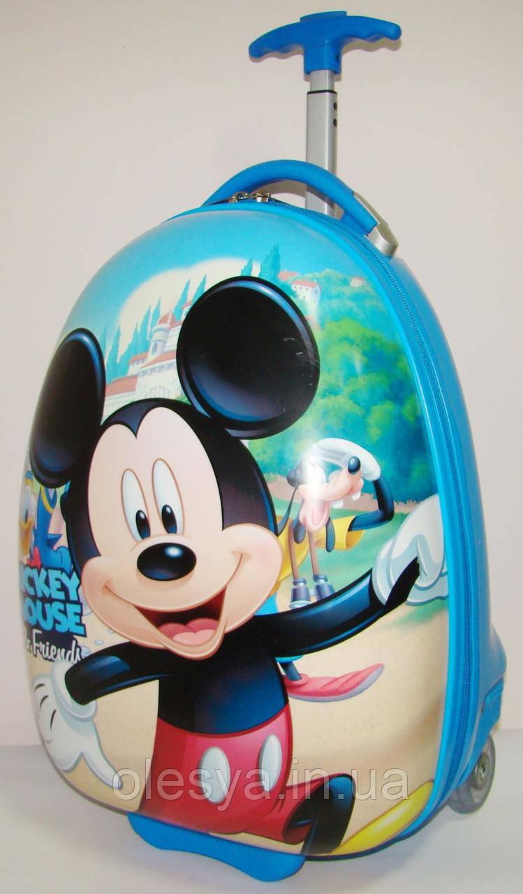 """Детский пластиковый чемодан на колесах """"Микки"""" 47*31*25,5 см"""