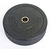 Бамперные диски для кроссфита из структурной резины d-51мм 25кг ТА-5126-25
