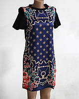 Платье-туника женская с рисунком реплика Гермес
