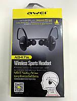 Спортивні Bluetooth навушники Awei A847BL