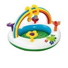 Дитячий надувний центр Bestway 52239 «Веселка», 94 х 56 см, з іграшками