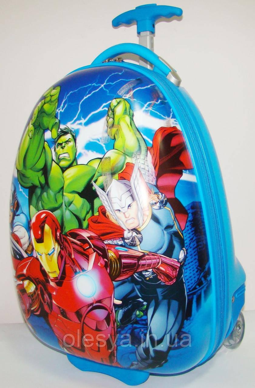 """Детский чемодан на колесах """"Супергерои"""" для мальчиков 3- 8 лет"""