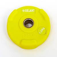 Блины (диски) полиуретановые с хватом и металлической втулкой d-28мм TA-5336-28-1_25