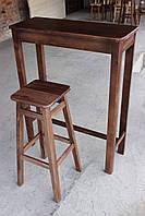 Барные стулья. Барный   табурет тонированный под лаком. Стул для кофейни. 60 см высота.