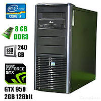 ПК Tower / Intel® Core™ i7-3770 (4(8)ядра по 3.4 - 3.9GHz) / 8GB DDR3 / new! 240GB SSD / GeForce GTX 950 2GB 128bit