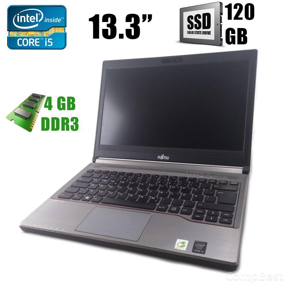 "Fujitsu LifeBook E734 / 13.3"" / Intel® Core™ i5-4310M (2(4)ядра по 2.7 - 3.4GHz) / 4GB / 120GB SSD / VGA, DP, USB"