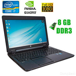 "HP ZBook 15 / 15.6"" (1920x1080) / Intel® Core™ i7-4800MQ (4(8)ядра по 2.7 - 3.7GHz) / 8GB DDR3 / 320GB HDD / Nvidia Quadro K1100M-K2100M, 2GB / DVD-RW, фото 2"
