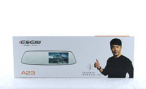 Видеорегистратор DVR A23 зеркало с двумя камерами, фото 2