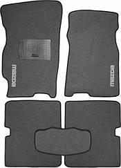 Ворсовые коврики для Mazda 3 (2013-) Текстильные в салон авто (серые) (StingrayUA.)