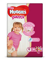 Huggies. Подгузники-трусики Huggies Pants для девочек 6 (15-25 кг), 30 шт. (564296)