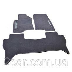 Ворсовые коврики для Mitsubishi L 200 (4дв/5м) (2006-) Текстильные в салон авто (серые) (StingrayUA.)