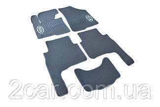 Ворсовые коврики для Kia Cerato (2008-) Текстильные в салон авто (серые) (StingrayUA.)