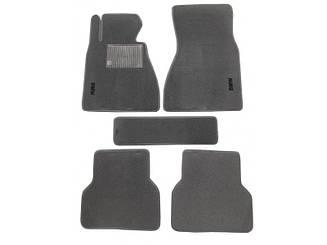 Ворсовые коврики для BMW 3-серия (Е90) (2005-2011) Текстильные в салон авто (серые) (StingrayUA.)