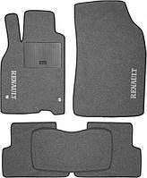 Ворсовые коврики для Renault Clio III Текстильные в салон авто (серые) (StingrayUA.)