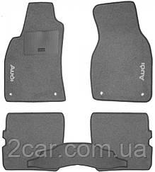 Ворсовые коврики для Audi A6 (С5) (1997-2004) Текстильные в салон авто (серые) (StingrayUA.)