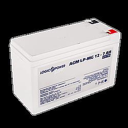 Аккумулятор мультигелевый AGM LogicPower LP-MG 12 - 7 AH SILVER