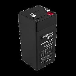 Аккумулятор AGM LogicPower LP 4-4 AH SILVER