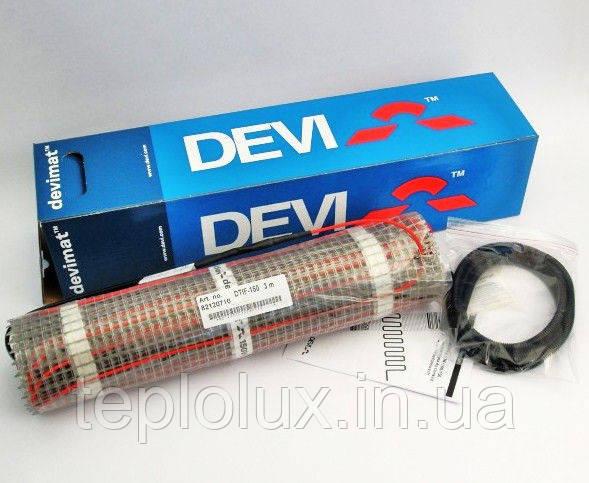 Теплый пол DEVImat (0,5 м2). Греющий мат под плитку DTIF-150