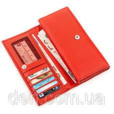 Кошелек женский KARYA 17233 кожаный Красный, Красный, фото 3