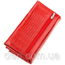 Кошелек женский кожаный красный, фото 2